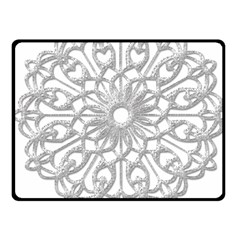 Scrapbook Side Lace Tag Element Fleece Blanket (small) by Nexatart