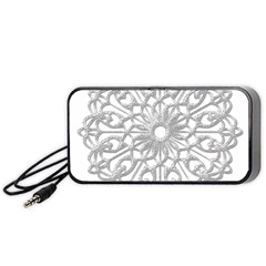 Scrapbook Side Lace Tag Element Portable Speaker (black) by Nexatart