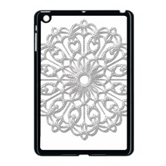 Scrapbook Side Lace Tag Element Apple Ipad Mini Case (black) by Nexatart