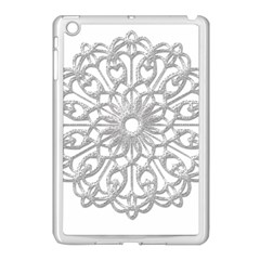 Scrapbook Side Lace Tag Element Apple Ipad Mini Case (white) by Nexatart