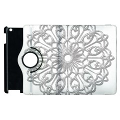 Scrapbook Side Lace Tag Element Apple Ipad 3/4 Flip 360 Case by Nexatart