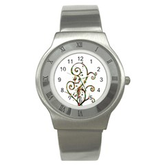 Scroll Magic Fantasy Design Stainless Steel Watch by Nexatart