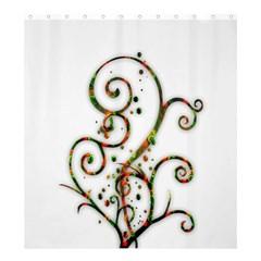 Scroll Magic Fantasy Design Shower Curtain 66  X 72  (large)  by Nexatart