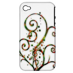 Scroll Magic Fantasy Design Apple Iphone 4/4s Hardshell Case (pc+silicone) by Nexatart