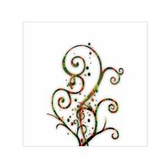 Scroll Magic Fantasy Design Small Satin Scarf (square) by Nexatart