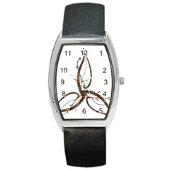 Abstract Shape Stylized Designed Barrel Style Metal Watch by Nexatart