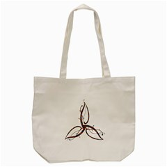 Abstract Shape Stylized Designed Tote Bag (cream) by Nexatart