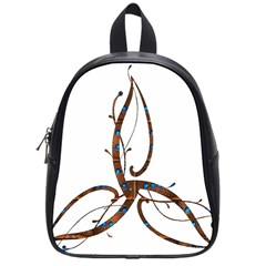 Abstract Shape Stylized Designed School Bags (small)  by Nexatart
