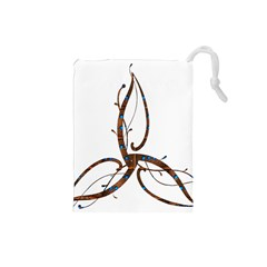Abstract Shape Stylized Designed Drawstring Pouches (small)  by Nexatart