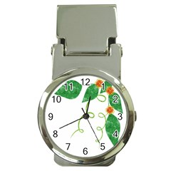 Scrapbook Green Nature Grunge Money Clip Watches by Nexatart