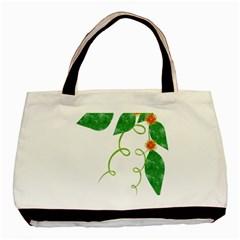 Scrapbook Green Nature Grunge Basic Tote Bag by Nexatart