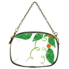Scrapbook Green Nature Grunge Chain Purses (two Sides)  by Nexatart