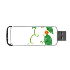 Scrapbook Green Nature Grunge Portable Usb Flash (two Sides) by Nexatart