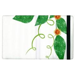 Scrapbook Green Nature Grunge Apple Ipad 3/4 Flip Case by Nexatart