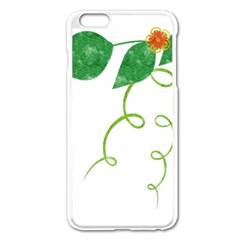 Scrapbook Green Nature Grunge Apple Iphone 6 Plus/6s Plus Enamel White Case by Nexatart