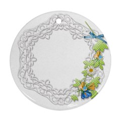 Scrapbook Element Lace Embroidery Ornament (round) by Nexatart