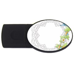 Scrapbook Element Lace Embroidery Usb Flash Drive Oval (4 Gb) by Nexatart