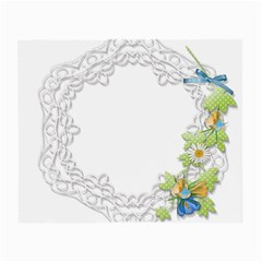 Scrapbook Element Lace Embroidery Small Glasses Cloth (2 Side) by Nexatart