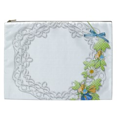 Scrapbook Element Lace Embroidery Cosmetic Bag (xxl)  by Nexatart
