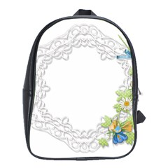 Scrapbook Element Lace Embroidery School Bags (xl)  by Nexatart