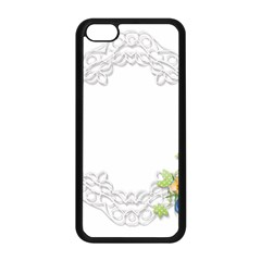 Scrapbook Element Lace Embroidery Apple Iphone 5c Seamless Case (black) by Nexatart