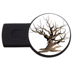 Tree Isolated Dead Plant Weathered Usb Flash Drive Round (4 Gb) by Nexatart