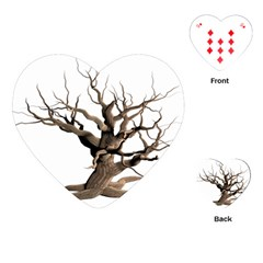 Tree Isolated Dead Plant Weathered Playing Cards (heart)