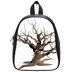 Tree Isolated Dead Plant Weathered School Bags (small)  by Nexatart