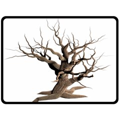 Tree Isolated Dead Plant Weathered Double Sided Fleece Blanket (large)  by Nexatart