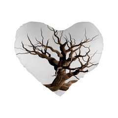 Tree Isolated Dead Plant Weathered Standard 16  Premium Flano Heart Shape Cushions by Nexatart