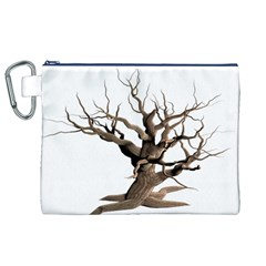 Tree Isolated Dead Plant Weathered Canvas Cosmetic Bag (xl) by Nexatart