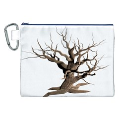 Tree Isolated Dead Plant Weathered Canvas Cosmetic Bag (xxl) by Nexatart