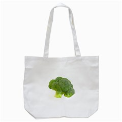 Broccoli Bunch Floret Fresh Food Tote Bag (white) by Nexatart