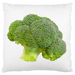 Broccoli Bunch Floret Fresh Food Large Flano Cushion Case (one Side) by Nexatart
