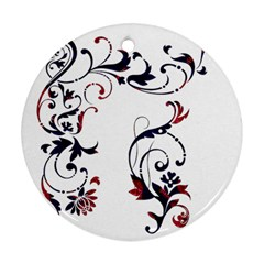 Scroll Border Swirls Abstract Ornament (round) by Nexatart