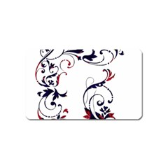 Scroll Border Swirls Abstract Magnet (name Card) by Nexatart