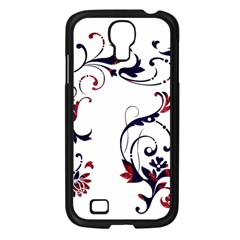 Scroll Border Swirls Abstract Samsung Galaxy S4 I9500/ I9505 Case (black) by Nexatart