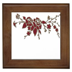 Scrapbook Element Nature Flowers Framed Tiles by Nexatart