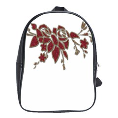 Scrapbook Element Nature Flowers School Bags(large)