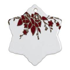 Scrapbook Element Nature Flowers Snowflake Ornament (two Sides) by Nexatart