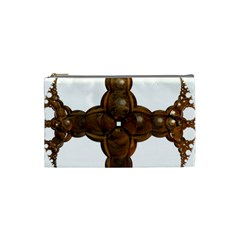 Cross Golden Cross Design 3d Cosmetic Bag (small)  by Nexatart