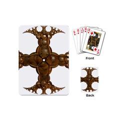 Cross Golden Cross Design 3d Playing Cards (mini)  by Nexatart