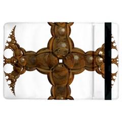 Cross Golden Cross Design 3d Ipad Air Flip by Nexatart