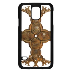 Cross Golden Cross Design 3d Samsung Galaxy S5 Case (black) by Nexatart