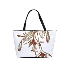 Floral Spray Gold And Red Pretty Shoulder Handbags by Nexatart
