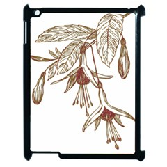 Floral Spray Gold And Red Pretty Apple Ipad 2 Case (black) by Nexatart