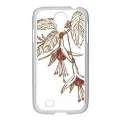 Floral Spray Gold And Red Pretty Samsung Galaxy S4 I9500/ I9505 Case (white) by Nexatart