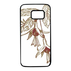 Floral Spray Gold And Red Pretty Samsung Galaxy S7 Black Seamless Case by Nexatart