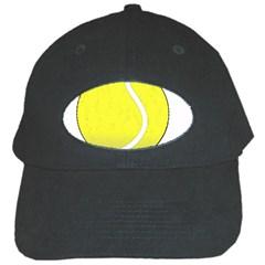 Tennis Ball Ball Sport Fitness Black Cap by Nexatart