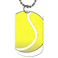 Tennis Ball Ball Sport Fitness Dog Tag (two Sides) by Nexatart